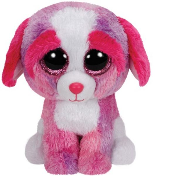Ty Beanie Boo's Glubschis farbiger Hund Sherbet