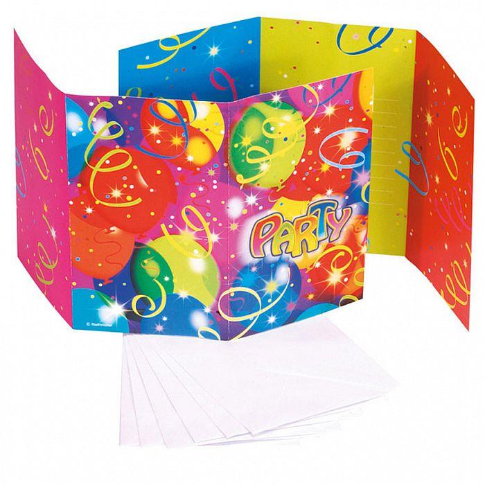 Einladungskarten Ballon Party